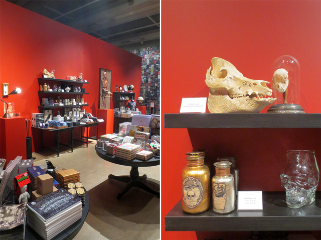 spooky goth gifts at ago toronto gift shop for at home with monsters exhibition guillermo del toro