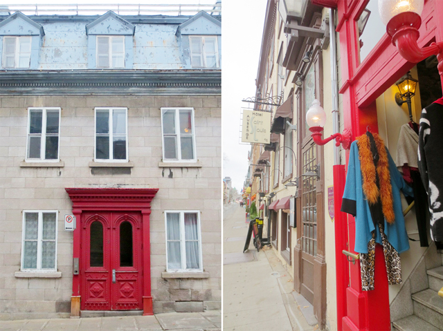 streets of quebec city historic district canada