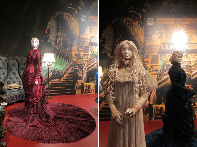 victorian costumes used in movie crimson peak by guillermo del toro at ago toronto art gallery