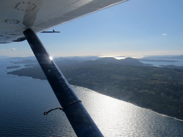view from inside seaplane