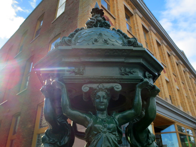 Charles Auguste Lebourg wallace fountain in quebec city canada