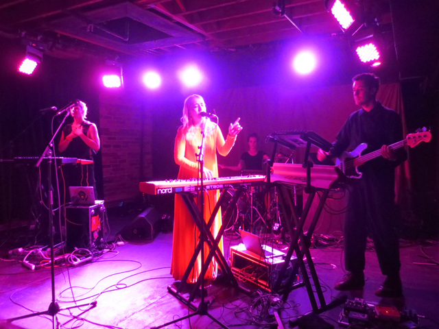 austra band performing at the velvet underground queen street west toronto
