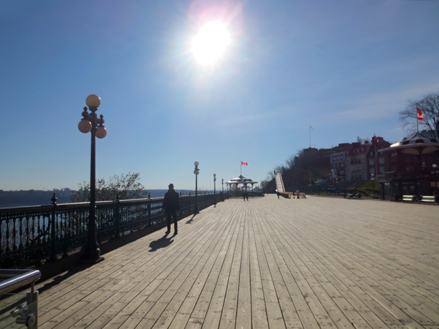 boardwalk along st lawrence river quebec city