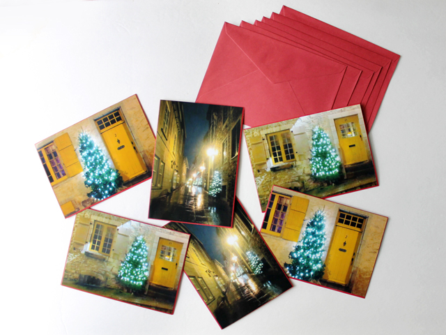 handmade christmas cards using prints of your own photographs