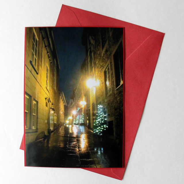 how to make christmas card using a print of a photograph you took