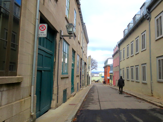 narrow streets old quebec city canada