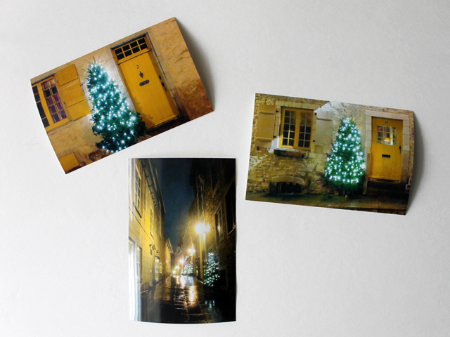 photographs taken in old quebec city to be used to make christmas cards