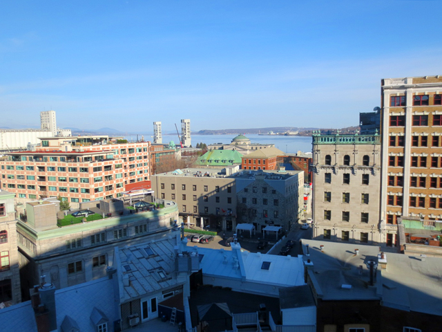 port royal hotel quebec city as seen from above