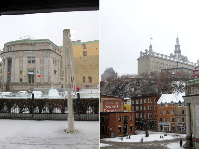 snowing in quebec city canada