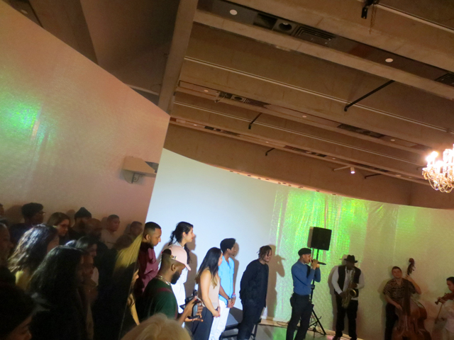 curator justjohnforreal blank canvas with performers ago give me a beat show at ago