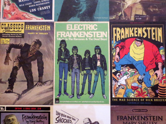 electric frankenstein tribute to the ramones and the dead boys book cover image at ago guillermo del toro exhibition