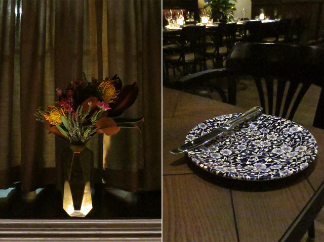 flowers and blue calico dishes at the broadview hotel queen street east toronto