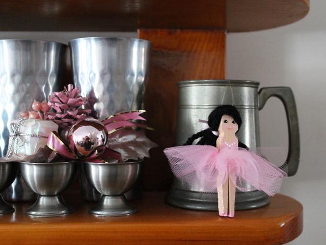 handmade ballerina christmas ornament