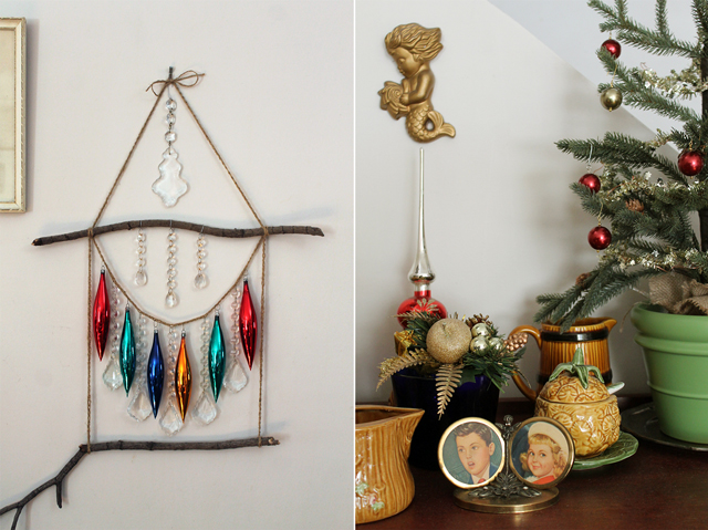 handmade christmas ornament display wall hanging