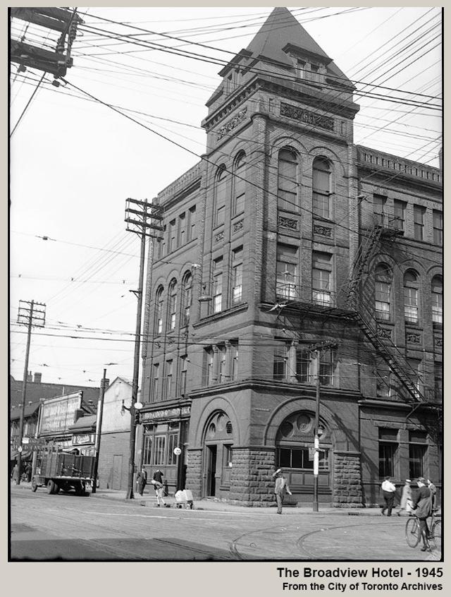 historic photograph toronto the broadview hotel 1945