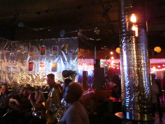 new years eve at the gladstone hotel toronto melody room decorated like warhols factory