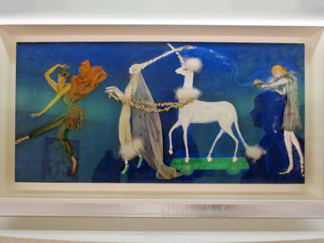procession zizum of persia by florine stettheimer collage painting costume design unicorn