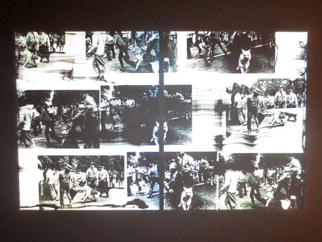retro reflective print by hank willis thomas viewed photographed with flash at ago toronto aimia photography prize