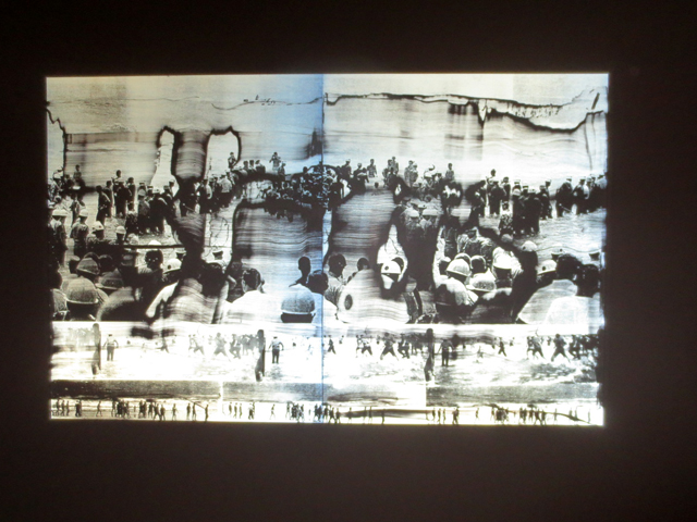 retro reflective print by hank willis thomas viewed with lightsouce at ago toronto aimia photography prize