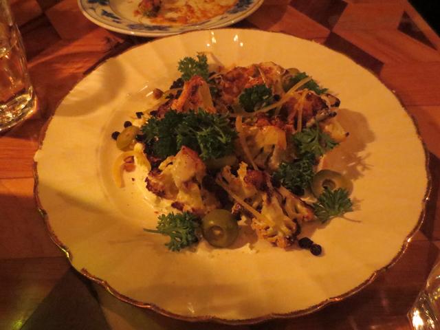 roasted moroccan cauliflower at peoples eatery spadina avenue toronto