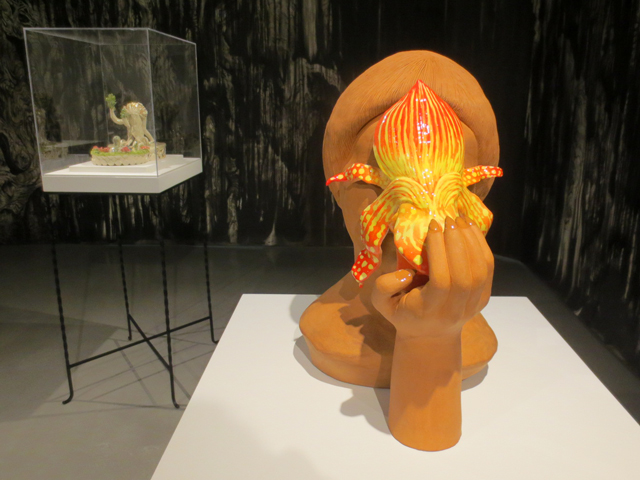 sculptures by shary boyle at onsite gallery the sunshine eaters exhibition toronto richmond street ocad