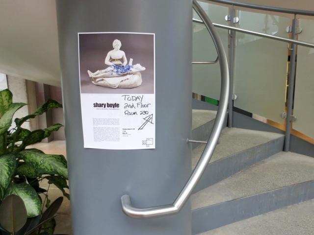 shary boyle artist talk at ocad toronto poster