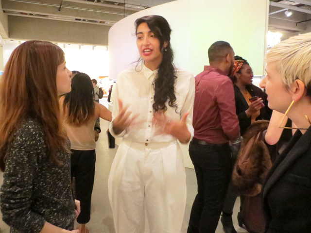 talking with the artists at blank canvas give me a beat show in florine stettheimer exhibition ago toronto