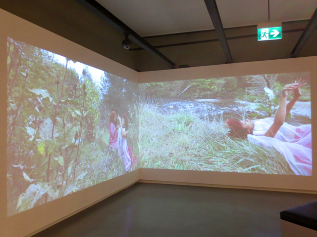 two chanel video installation by jessica karuhanga sunshine eaters exhibition onsite gallery toronto