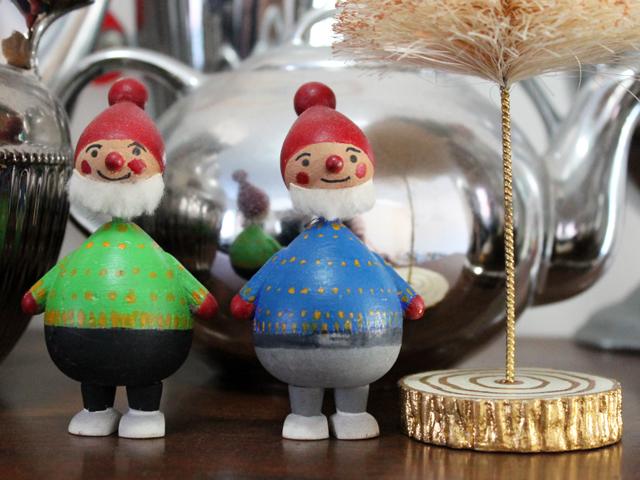vintage wooden elves