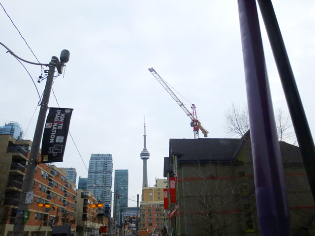 walking south from ocadu to their onsite gallery toronto