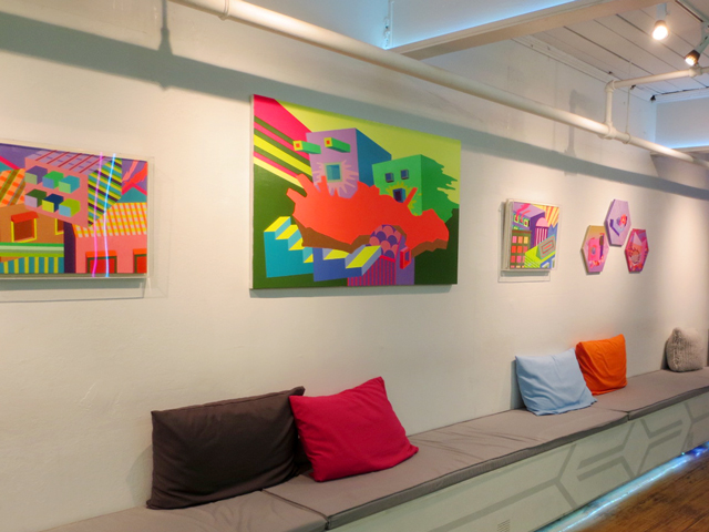 art by june kim hanging at house of vr queen street west toronto