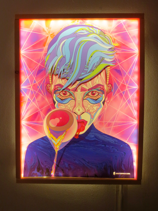 artwork by jay tripper hanging at house of vr queen street west toronto