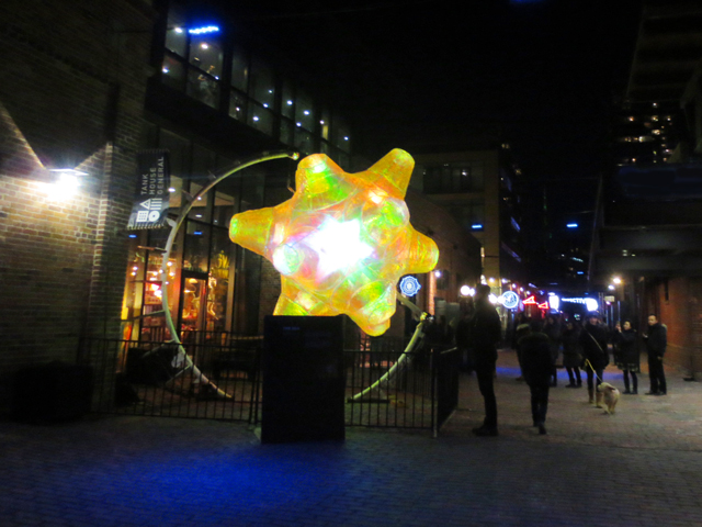 at the distillery district light fest toronto