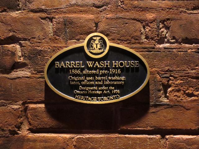 barrel wash house sign historic distillery district toronto