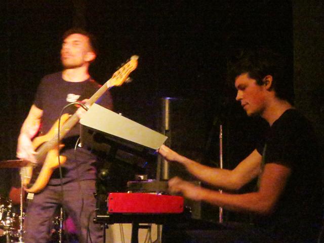 bass and keyboards tush band