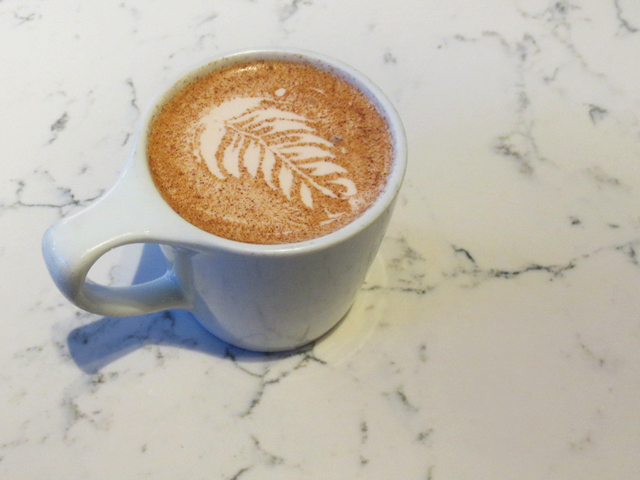 chai latte at early bird cafe queen street west toronto
