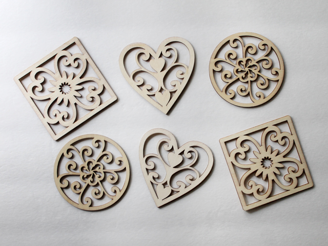 die cut wooden pieces found at michaels