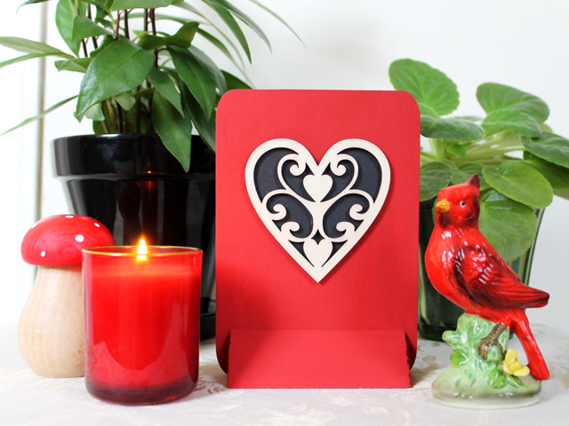 diy valentine decoration diecut wood from craftstore how to make