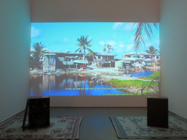film projection adrift by david hartt at mercer union gallery toronto