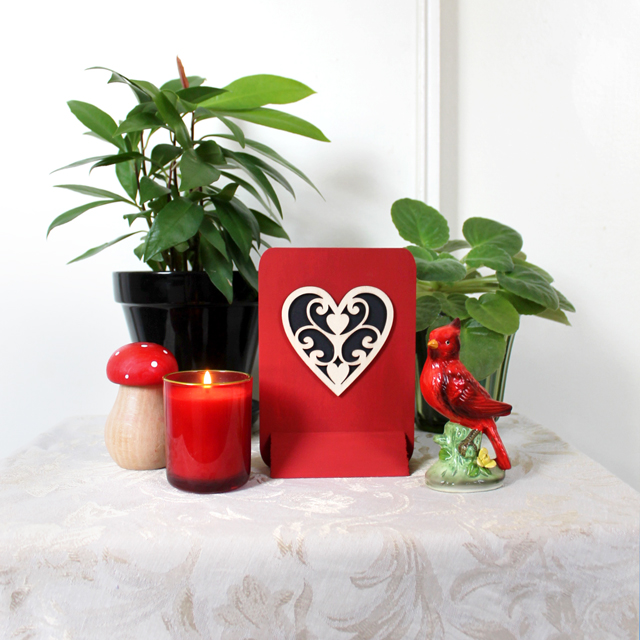 how to make an easy valentine decoration using store bought wooden pieces