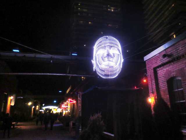 light festival toronto distillery district