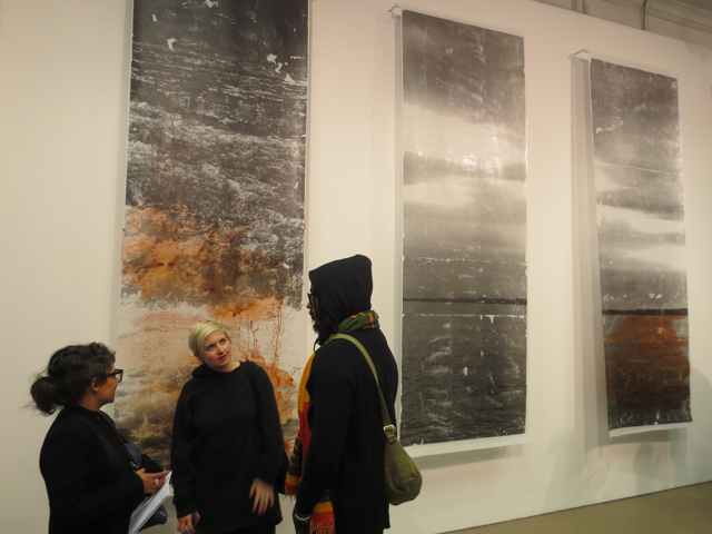 mixed media by sandra brewster a trace at mercer union gallery toronto common cause exhibition