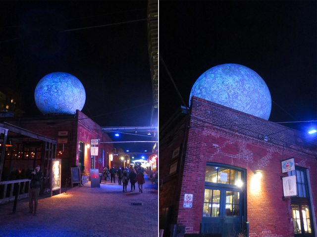 moonburn by stichting barstow at toronto light festival distillery district