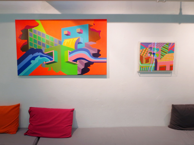 paintings by june kim on display at house of vr toronto