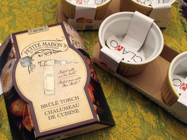petite maison brule torch and ramekins valentines day gift