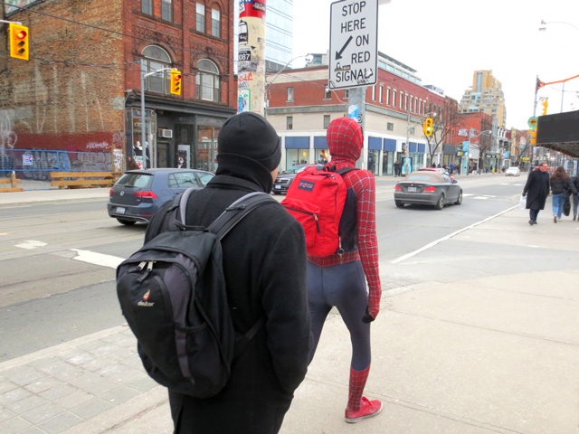 toronto spiker man sighting queen street west