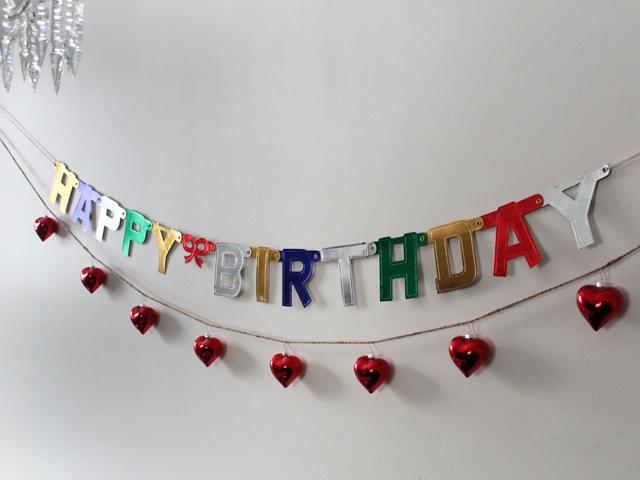 valentine birthday banner