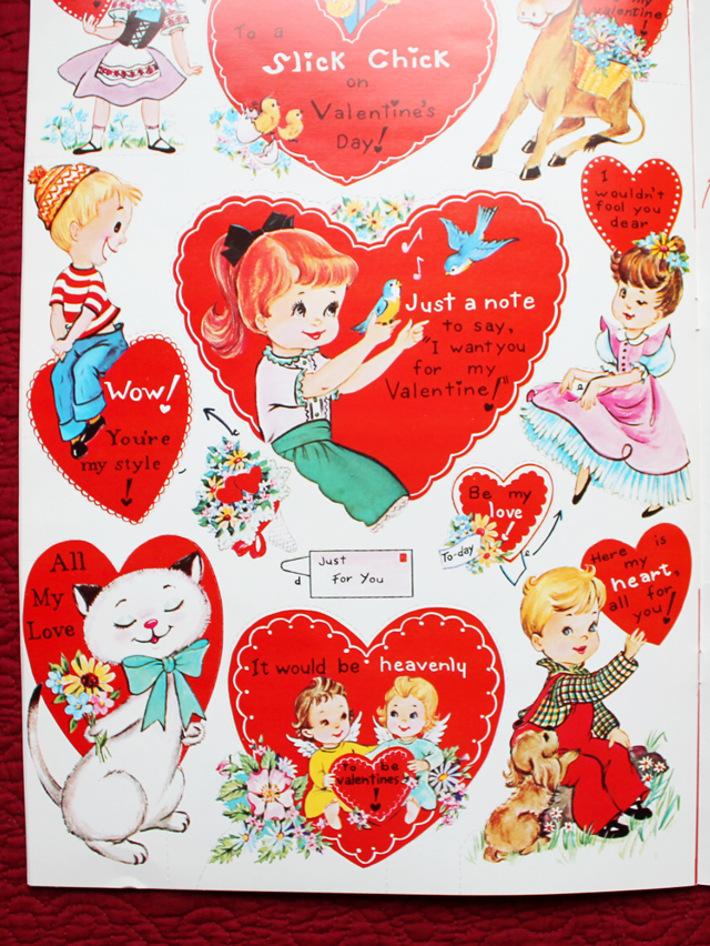 valentine cards for children vintage sixties doubl glo canada