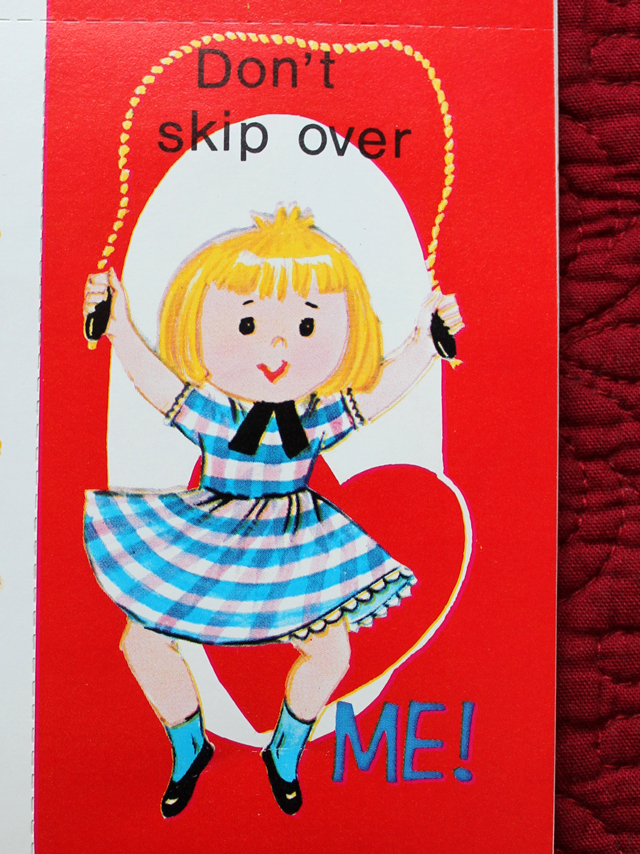 vintage valentine dont skip over me