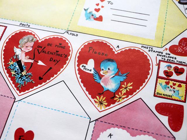 vintage valentines blue bird